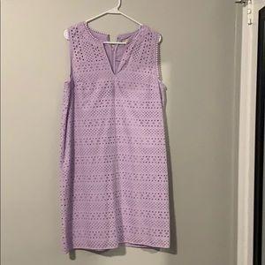 Loft purple lace dress